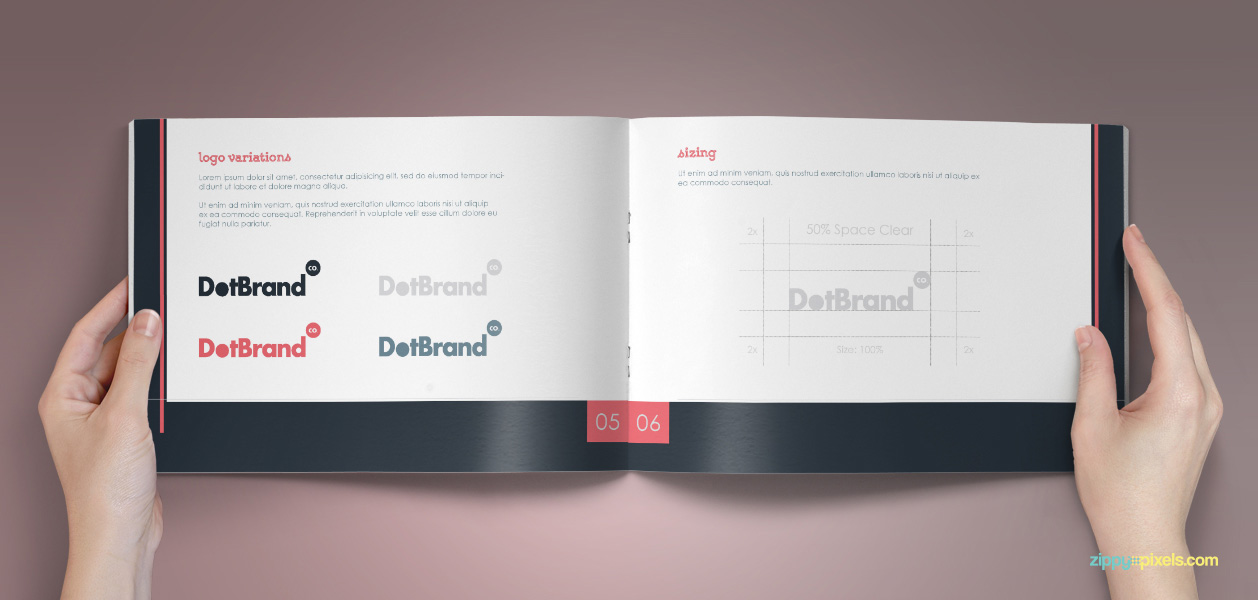 08 Brand Book 8 Logo Variations Sizing
