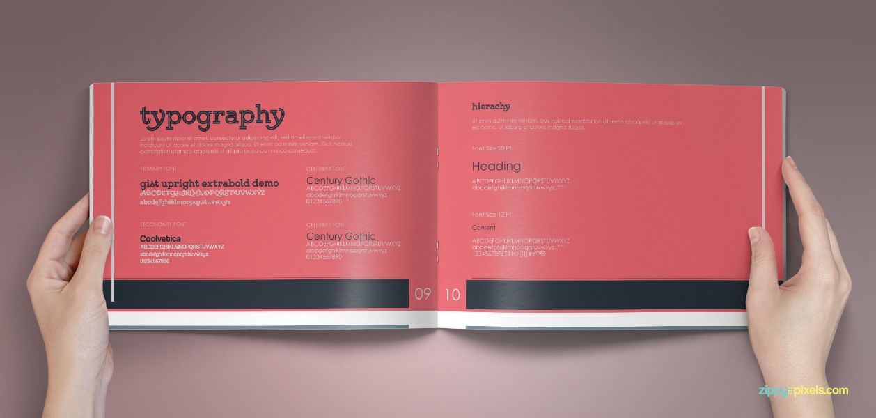 10 Brand Book 8 Typography 1