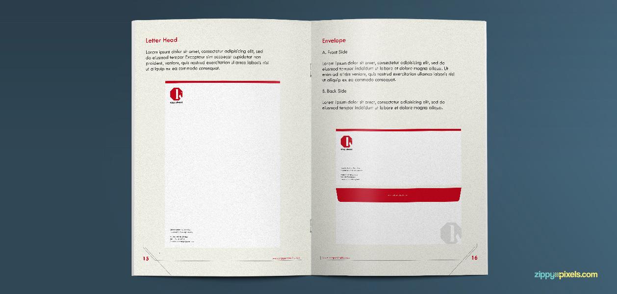 11 Brand Book 10 Letterhead Envelope