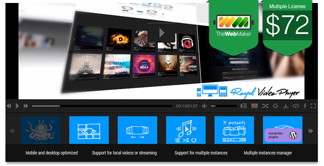 41 wordpress and html5 galleries templates and plugins for Html5 video player template