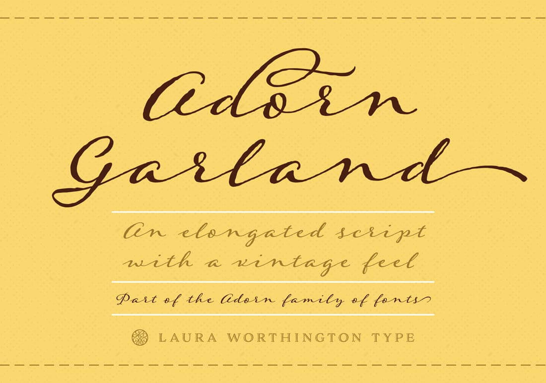 Marigold: Bundle of 8 Fabulous, Hand-drawn Fonts from Laura