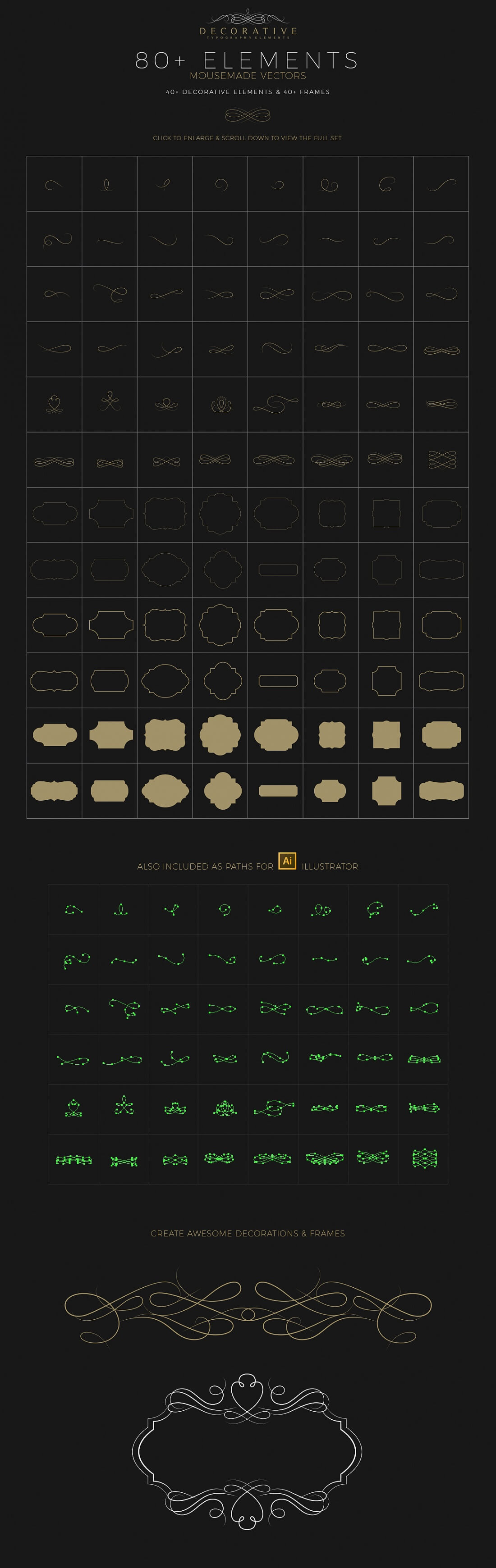 Professional logo creation kit bundle with elements