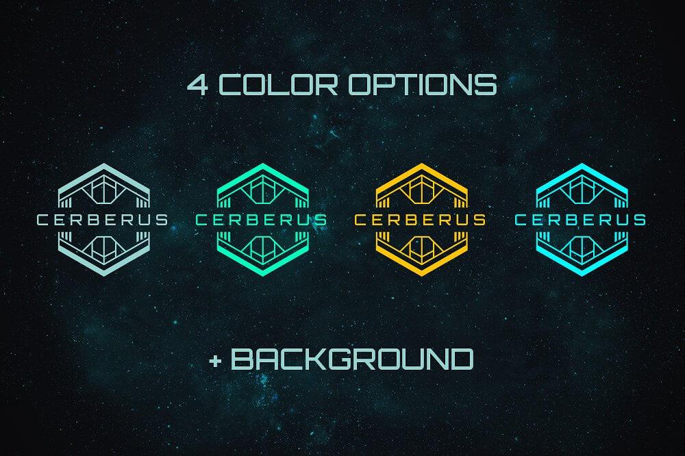 scifi bundle space fonts backgrounds logos ui kit