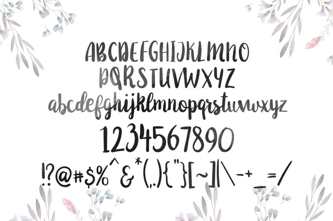 bundle  sweet 20 premium handlettered fonts  with extended
