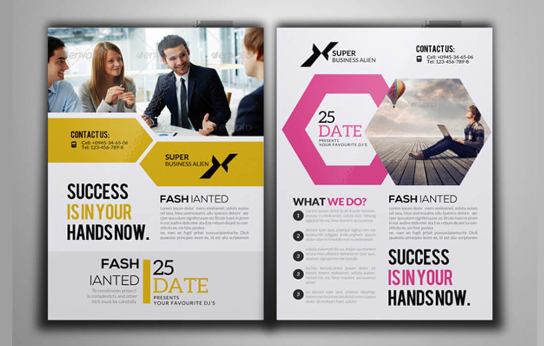 100 high quality business flyer templates only 17 mightydeals 100 high quality business flyer templates only 17 wajeb Images