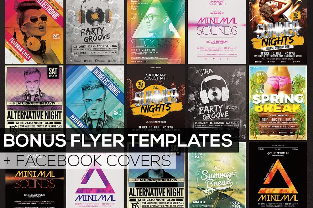 professional flyer templates and facebook covers only  pricing