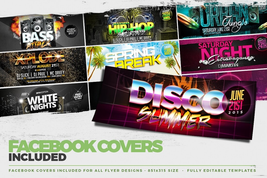 100 professional flyer templates and facebook covers only 19