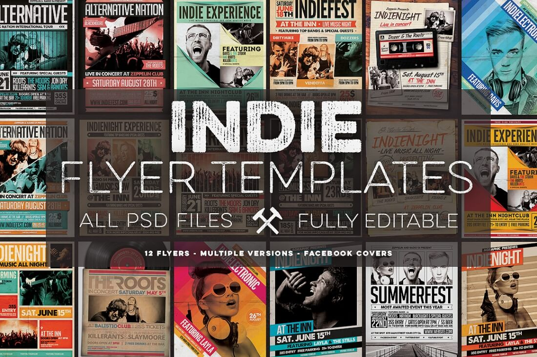 professional flyer templates and facebook covers only  previews