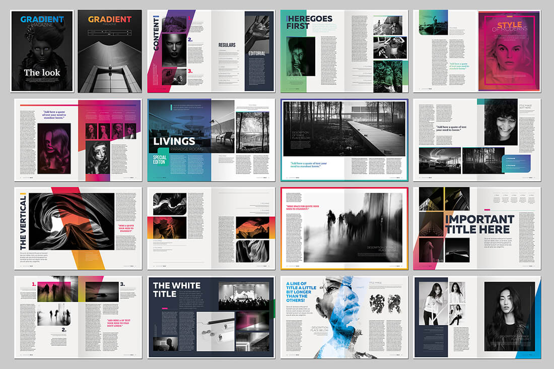 Last chance 15 indesign magazine brochure templates for Magazine layout templates free download