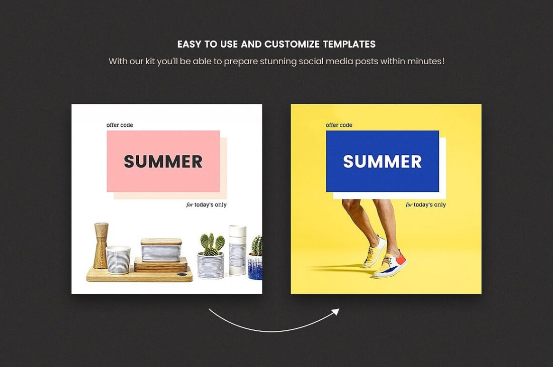 168 Social Media Templates For Facebook Instagram Twitter Pinterest Only 24 Mightydeals