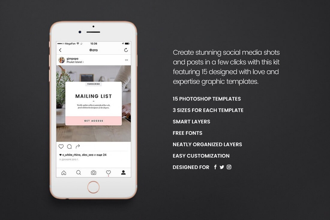 168 Social Media Templates for Facebook, Instagram, Twitter