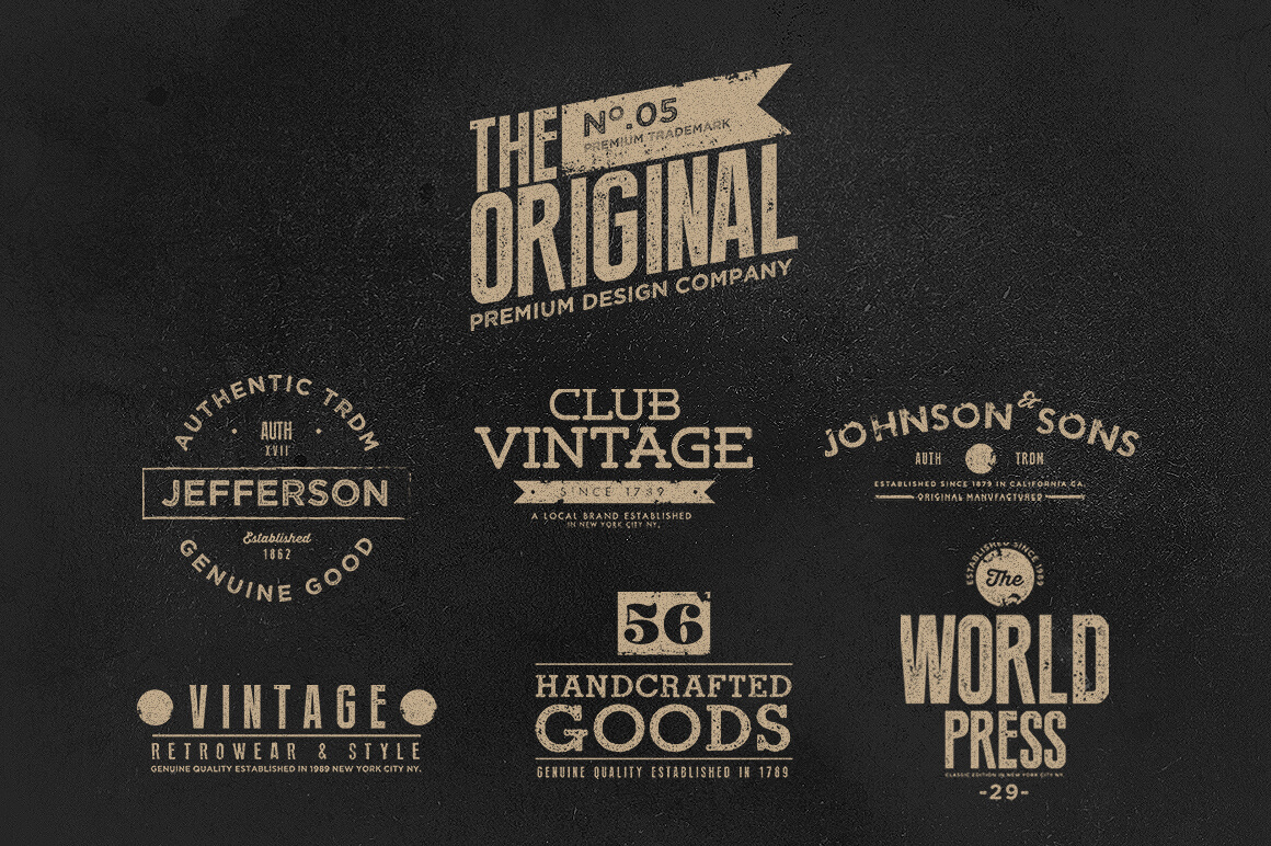 last chance  150  vintage logos and photo mock