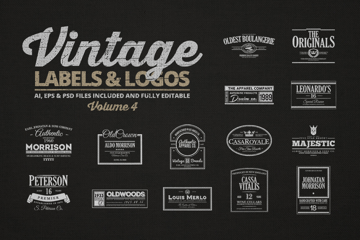 150+ Vintage Logos and Photo Mock-Ups Bundle - only $16 ...