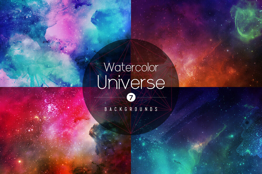 16 breathtakingly unique watercolor universe backgrounds only 9