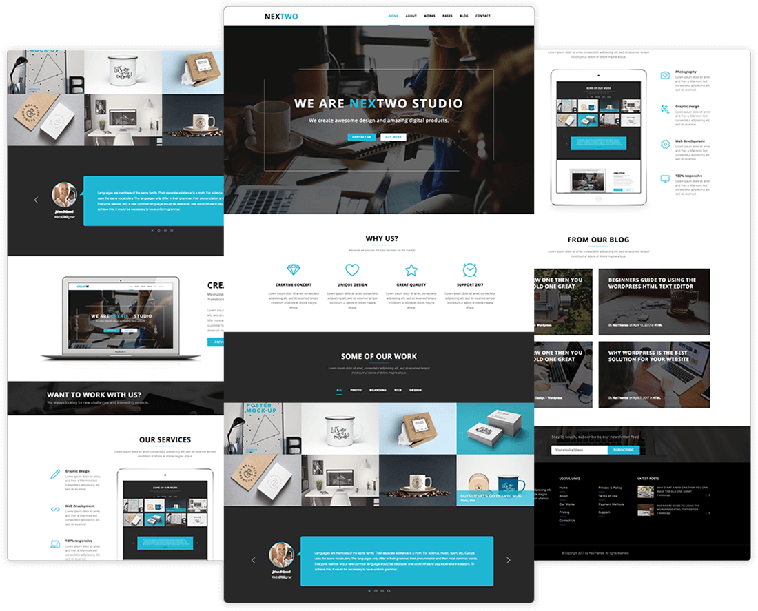 40+ Premium WordPress Themes & HTML Templates from NexThemes - only ...