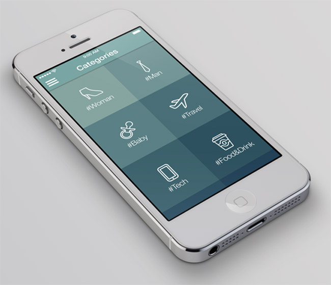 last day 6 professional ios7 app design templates only 29