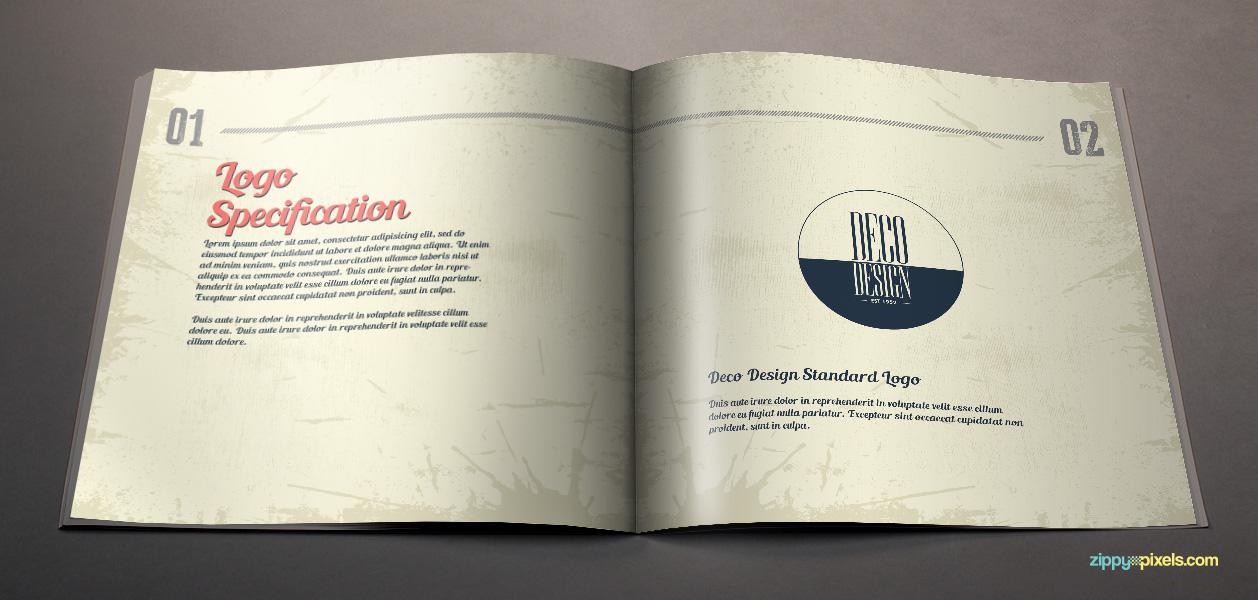 07 brand book 13 logo specification deco design standard logo