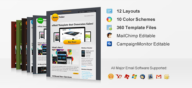 Professional Email Templates From ChocoTemplates Only - Mailchimp premium templates