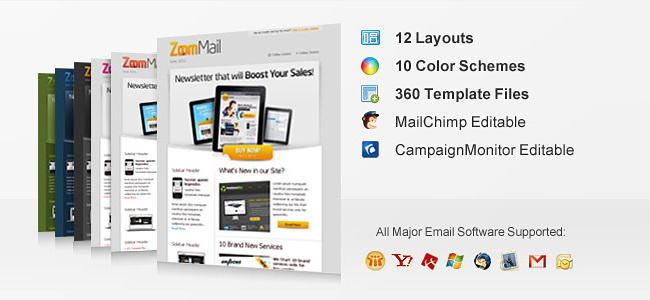 11 Professional Email Templates from ChocoTemplates - only $12 ...