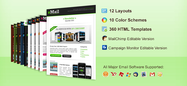 11 Professional Email Templates From ChocoTemplates   Only $12!