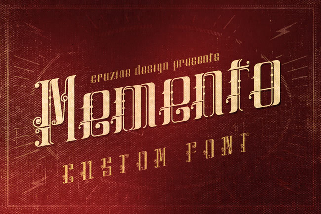 Another Retro Vintage And Classic Font Memento Also Features An Ornamental Style