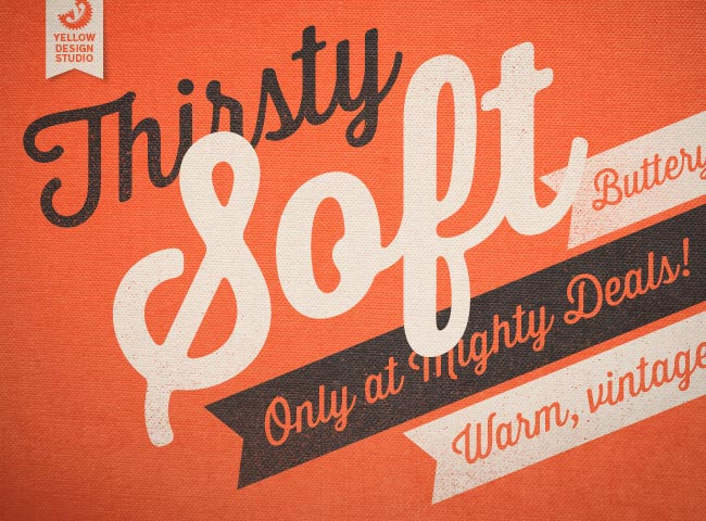 LAST DAY! MightyDeals Exclusive: New Thirsty Soft Font