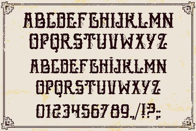 10 Fantastic High Quality Old Fashioned Vintage Fonts - only $17