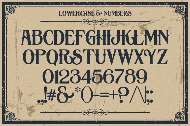 10 Fantastic High Quality Old Fashioned Vintage Fonts - only