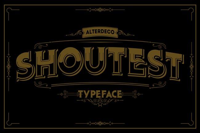 Shouttest font