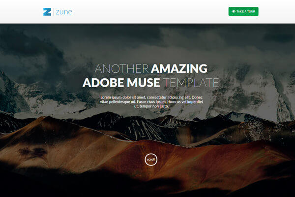 Adobe Muse Bundle of 20 Premium Website Templates - only $19