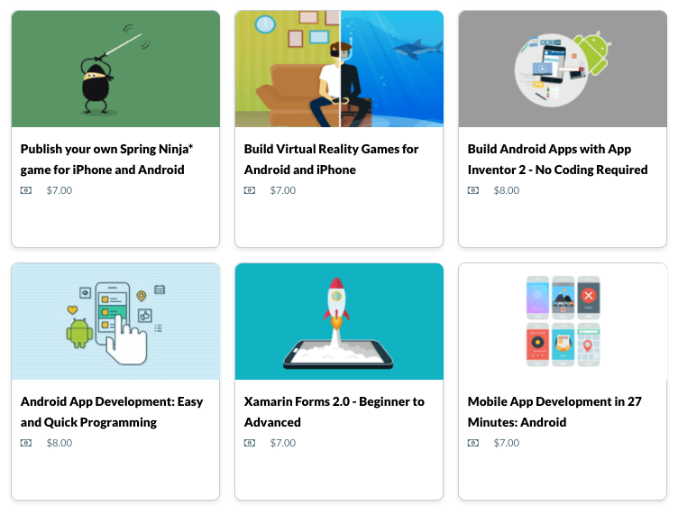 Android Development Bundle, Over 125 Hours of Online Courses
