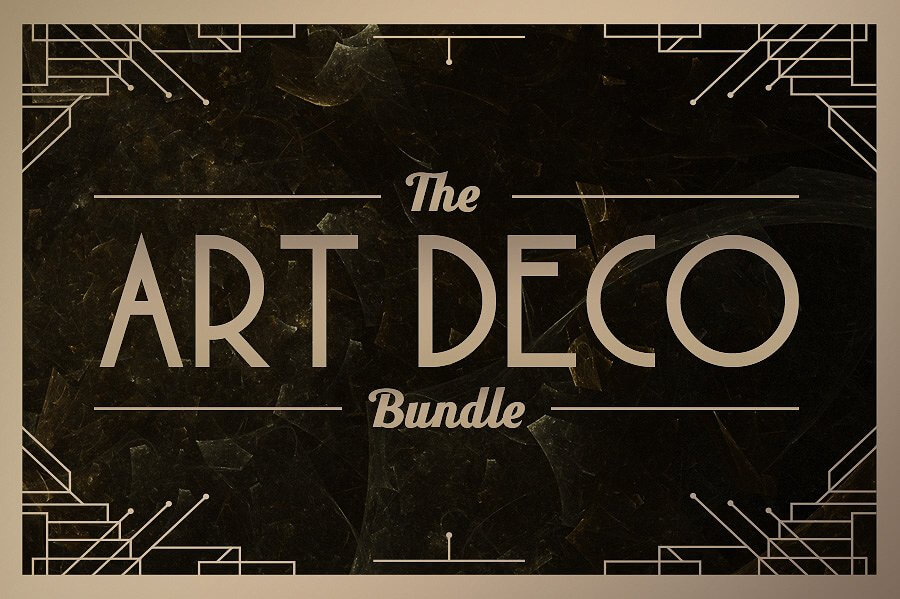 100 art deco fonts badges borders and backgrounds only 17 pricing normally this art deco voltagebd Images