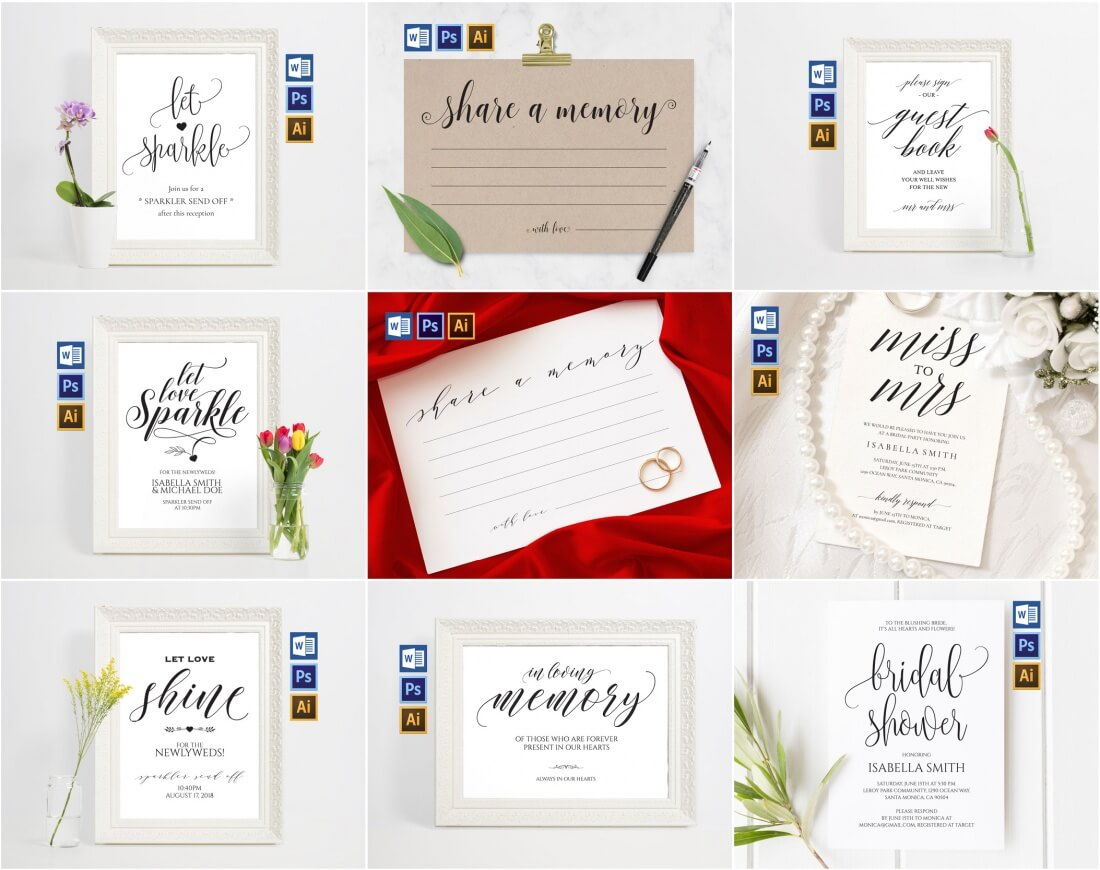 400+ Print-Ready Wedding Templates - only $24! - MightyDeals