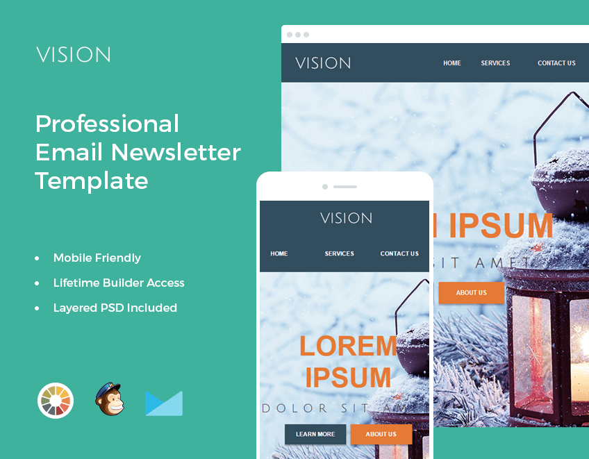 bundle of 14 email newsletter templates mailchimp compatible only