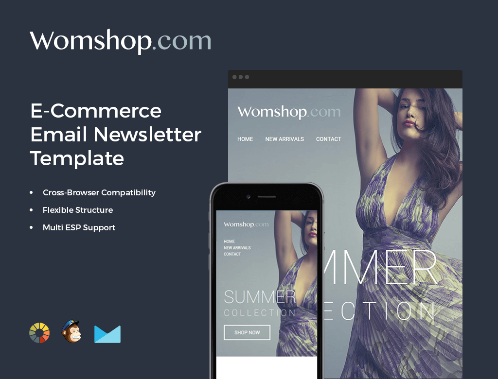 Bundle Of Email Newsletter Templates MailChimp Compatible Only - Ecommerce email templates free download