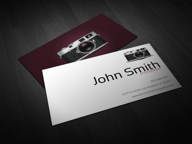 Last day 40 ready to print business card templates only 15 photographer business card template friedricerecipe Image collections
