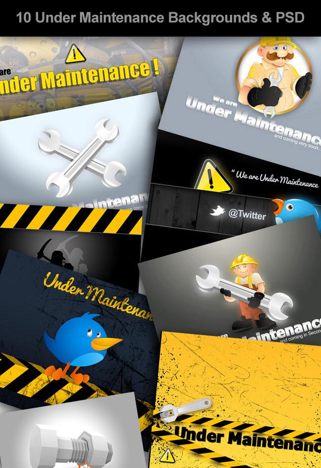 Under Maintenance Backgrounds
