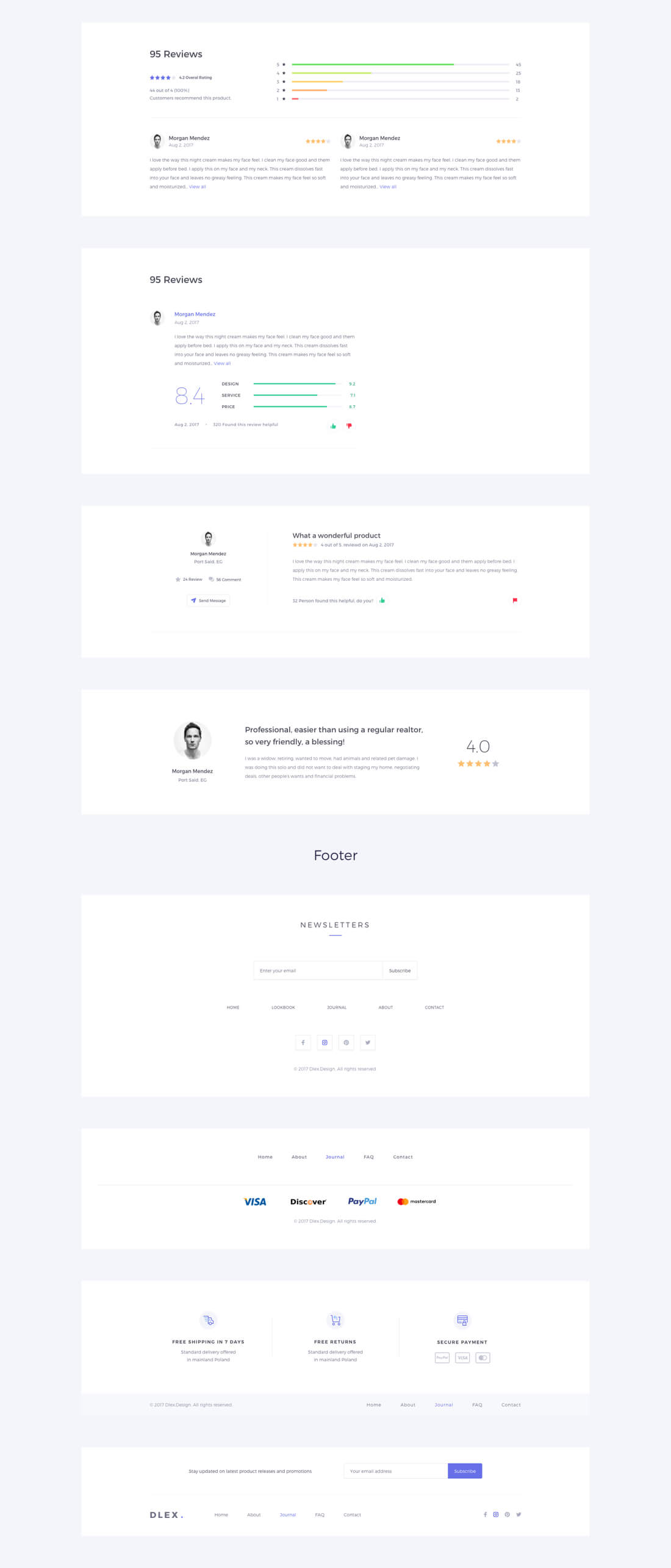 DLEX UI Kit with 1,000+ Elements & 400 Components - only $24