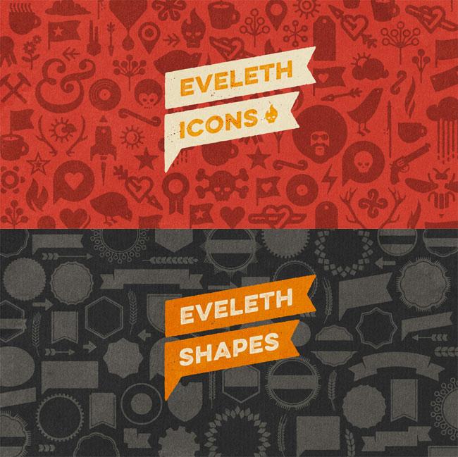 LAST CHANCE: Eveleth Letterpress Font Family (all 16 fonts