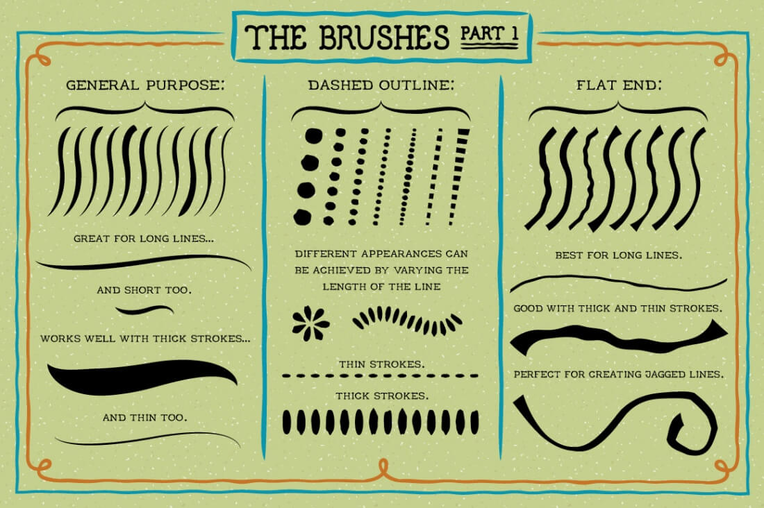 Exclusive Freebie: 60 Outline Brushes for Illustrator - MightyDeals