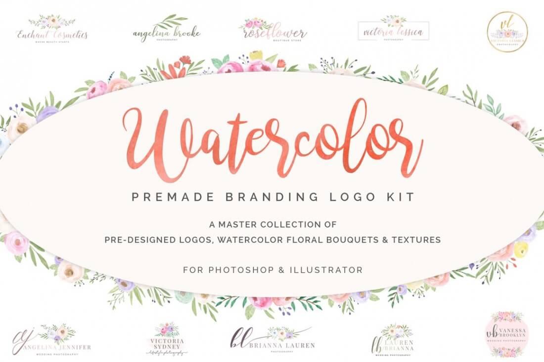 feminine gigabundle  3 000  logos  textures  resumes  ppt