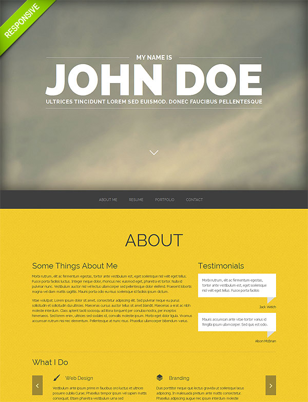 20 One-Page Responsive Templates with Parallax Effect - only $19 ...