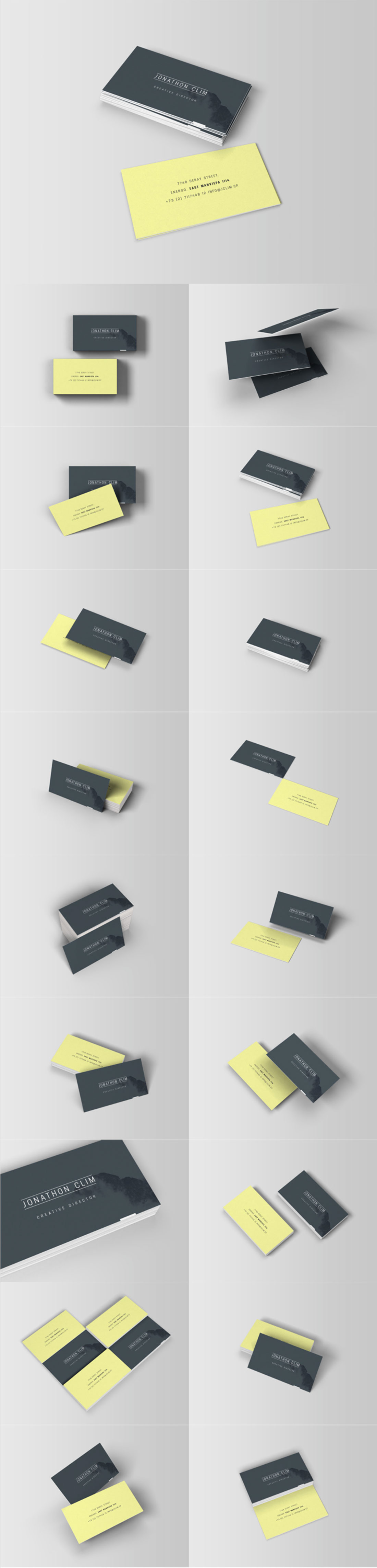 Free Download 8 Business Card Mockups MightyDeals