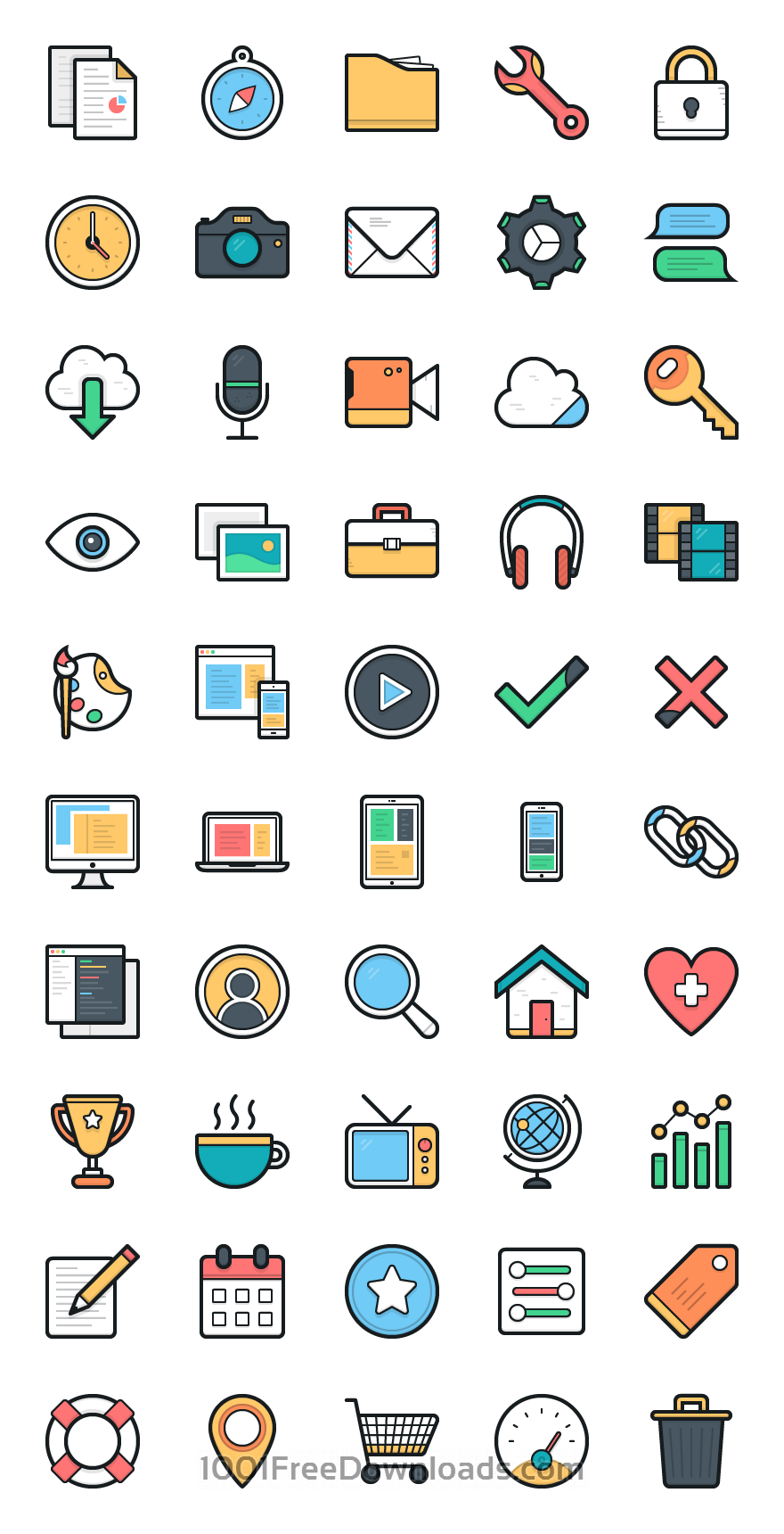 free download 100 lulu vector icons mightydeals