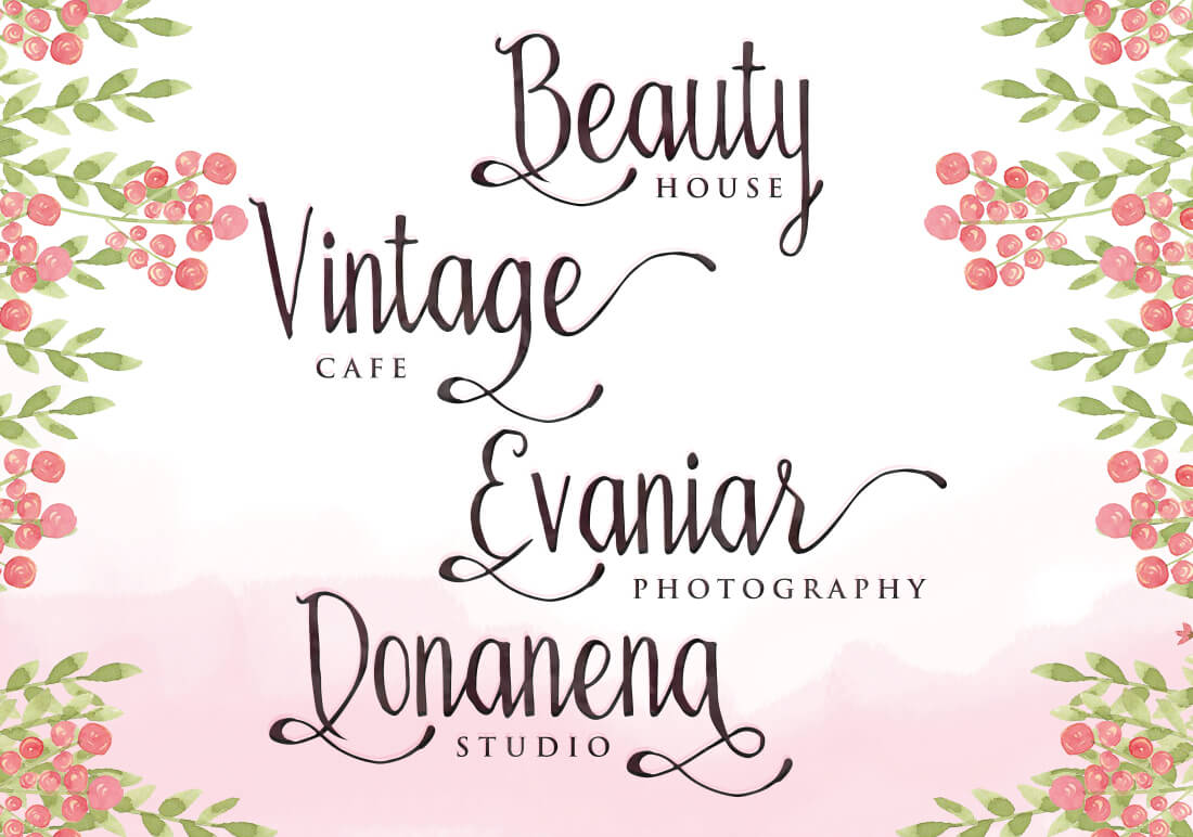 Bellanie Script Features 384 Glyphs Alternate Characters And A Variety Of OpenType Making It Beautiful Handmade Option