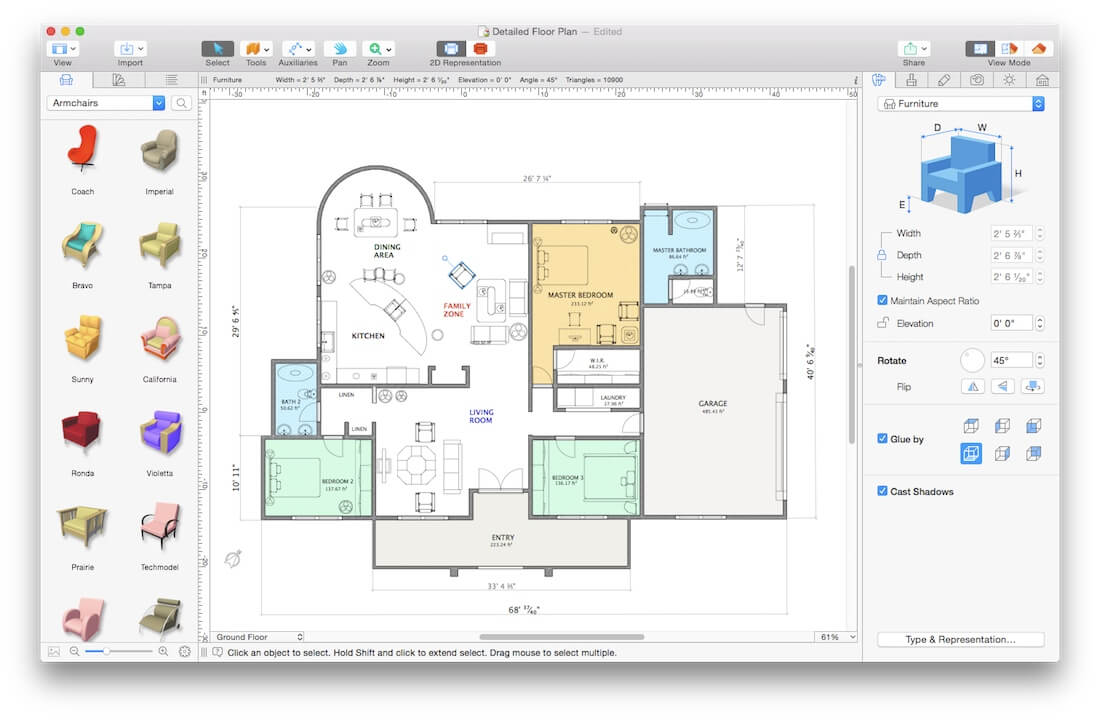 Last chance powerful 3d home and interior design app for Floor plan mac