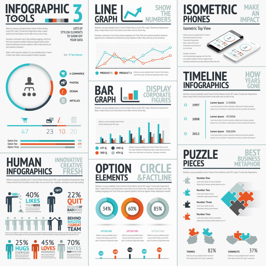 Infographic Mega Bundle Thousands Of Graphic Elements