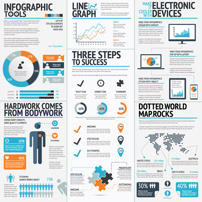 19 Professional Vector Infographic Template Sets - only $37 ...