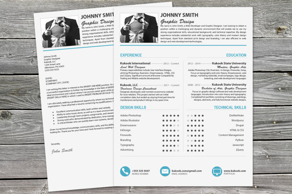 Bundle of 20 gorgeous resume 4 cover letter templates for Beautiful resume