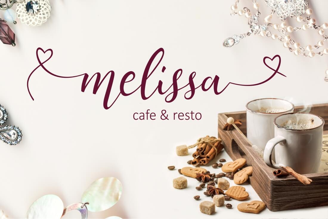 LAST CHANCE: Lovely Melissa, a Modern Script Font Including 964